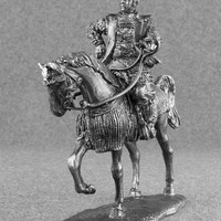 Japanese Samurai Action Figures - Medieval 1/32 Scale Japanese Samurai Cavalry Toy Soldier 54mm Tin Metal Miniature Antique Action Figurine