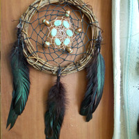 Medium Dream Catcher with Amazonite and Ceramic Beads