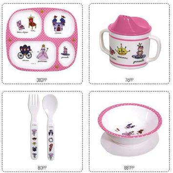 Princess Melamine Baby Dinnerware 4pcs
