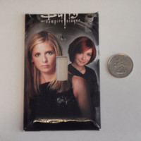 buffy the vampire slayer with red head willow- handmade decorative light switch plate cover - L-20