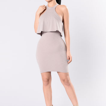 Lady Marmalade Dress - Light Mocha
