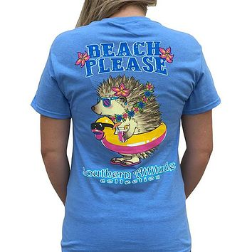 Country Life Southern Attitude Beach Please Hedgehog T-Shirt