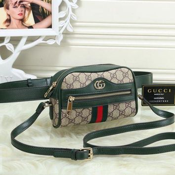 Gucci New Fashion Women Leather Waist Pack Satchel Shoulder Bag Crossbody