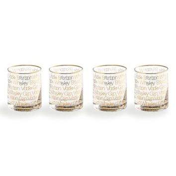 Rosanna Cheers Set of 4 Double Old Fashioned Glasses | Nordstrom