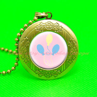 my little pony pinkiepie cutie mark mlp pendant locket necklace, girlfriend gift