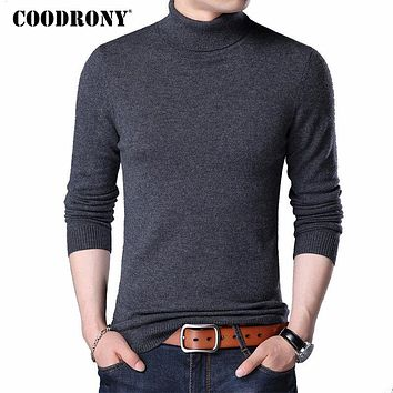 Merino Wool Sweater Men Casual Classic Turtleneck Pull Home Winter Soft Warm Cashmere Men's Pullover Sweaters