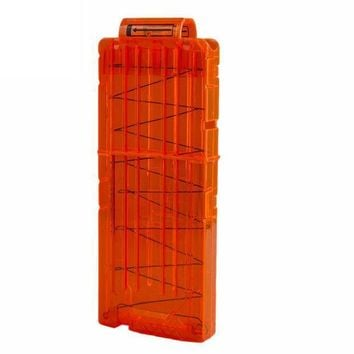 12 Reload Clip Magazines Round Darts Replacement Plastic Magazines Toy Gun Soft Bullet Clip Orange For Nerf N Strike Elite