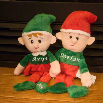 Elf plushies - personalized elf - elf toy - stuffed elf - elf doll - elf on a shelf