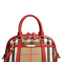 Burberry 'Small Orchard' House Check Satchel