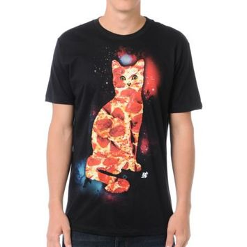 A-Lab Pizza Cat Black Tee Shirt