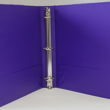 "1.5"" Basic 3-Ring Binder w- Two Inside Pockets - Purple - CASE OF 12"