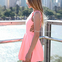 IN THE MOMENT DRESS , DRESSES, TOPS, BOTTOMS, JACKETS & JUMPERS, ACCESSORIES, 50% OFF END OF YEAR SALE, PRE ORDER, NEW ARRIVALS, PLAYSUIT, COLOUR, GIFT VOUCHER,,Pink,CUT OUT,BACKLESS,SLEEVELESS,MINI Australia, Queensland, Brisbane