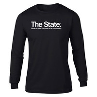 Mandatory Ideas Long Sleeve Statism T-shirt