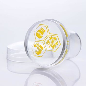 4cm XL Clear Silicone Marshmallow Jelly Nail Stamper with Cap Nail Art Stamper & Scraper # 26497