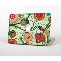 "The Vintage Green Floral Vector Pattern Skin Set for the Apple MacBook Pro 13"" with Retina Display"