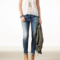 AEO Women's Boy Jean (Blue)