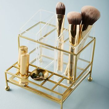 Faceted Vanity Organizer
