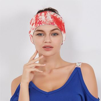Haimeikang women wide elastic headband Cotton Stretch Hairband Bandanas Head wrap bohemian design hair band turban headbands