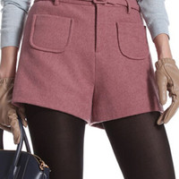 Pink Front Pocket With Belt Shorts - Choies.com
