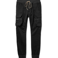 Rick Owens - Skinny-Fit Stretch Cotton-Blend Cargo Trousers