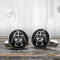 Star Wars cufflinks - DARTH VADER helmet - Very elegant mens cuff links