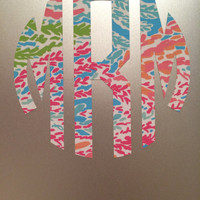 Lilly Pulitzer Personalized Monogram Decal Sticker