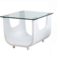 Saly Side Table White