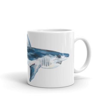 Painted Mako Shark Mug