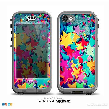 The Collage of Colorful Stars Skin for the iPhone 5c nüüd LifeProof Case