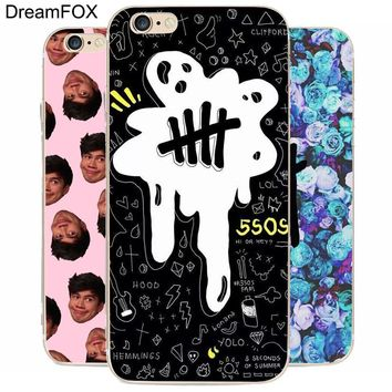 DREAM FOX K004 5 Seconds Of Summer Boyband Transparent Hard Thin Case Cover For Apple iPhone 8 X 7 6 6S Plus 5 5S SE 5C 4 4S