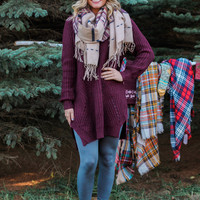 The Perfect Knit Sweater - Wine