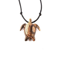 Turtle Necklace, Sea Turtle Necklace, Nautical Jewelry, Sea Turtle Pendant, Mens Necklace, Mens Jewelry, Turtle Pendant, Hand Carved Pendant