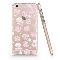 Sea Shell Pearl Slim Transparent Iphone 6 6s Case, Clear Iphone Hard Cover Case For Apple Iphone 6 6s Emerishop (iphone 6)