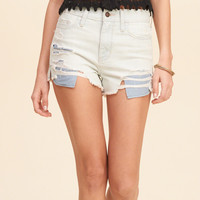 High Rise Denim Short-Shorts
