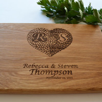Personalized Wooden Cutting Board Heart Puzzle Personal Engraving Gift For Wedding Housewarming Gift Cookware Bridal Shower Gift