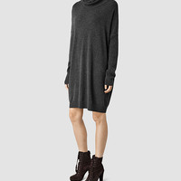 Womens Erlin Dress (CHARCOAL GREY MARL) | ALLSAINTS.com
