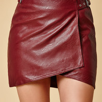 Evil Twin Distance Faux Leather Wrap Mini Skirt at PacSun.com