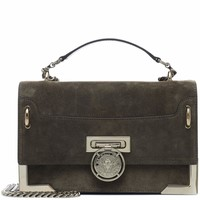 BBox 25 suede shoulder bag
