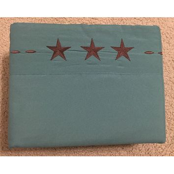 WESTERN DESIGN STAR - 1800 EGYPTIAN COMFORT BED SHEET SET - Turquoise