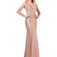 Topwedding Womens Mermaid Long Bridesmaid Dress Sequins Wedding Party Prom Gown