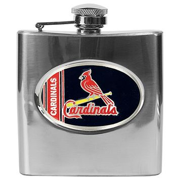 St. Louis Cardinals Stainless Steel Hip Flask (Silver)