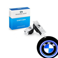Car Door LED Light BMW Logo Projector by Capker, Bright Illumination, Low Consumption, HD Projection, 2 Pcs Set, Easy and Fast Installation, Useful and Deluxe Accessory, Perfect for your BMW