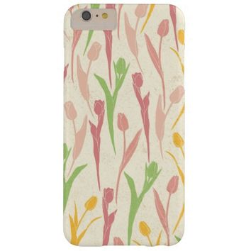 Elegant Stylish Vintage Girly Tulip Flower Pattern Barely There iPhone 6 Plus Case