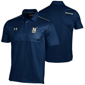 Navy Midshipmen Under Armour 2014 Ultimate Coaches Sideline Performance Polo – Navy Blue