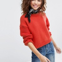 H! By Henry Holland Cropped Ribbed Jumper at asos.com