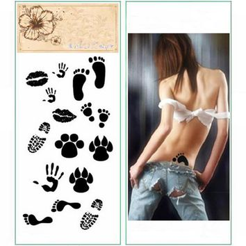 KMT Temporary Small Footprint Tattoo Transfer Body Art