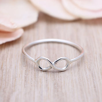 925 sterling silver small Infinity ring