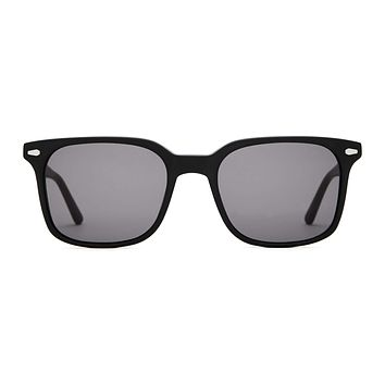 Crap Eyewear - Conga Jet Matte Black Sunglasses / Grey Lenses
