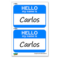 Carlos Hello My Name Is - Sheet of 2 Stickers