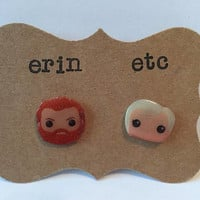 Handmade Plastic Fandom Earrings - Game of Thrones - Brienne & Tormund